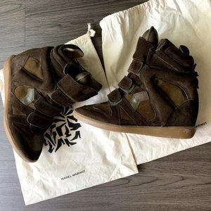 Isabel Marant Taupe BEKETT Leather sneakers